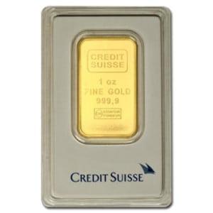 1 oz Credit Suisse Bar in Asssay