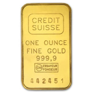 1 oz Credit Suisse Gold Bullion
