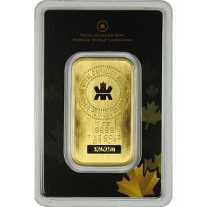 RCM Gold Bar with assay card
