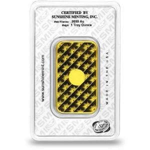 Sunshine Mint 1 oz Gold Bar